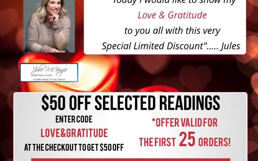 $50 off Selected Readings with Julie McKenzie