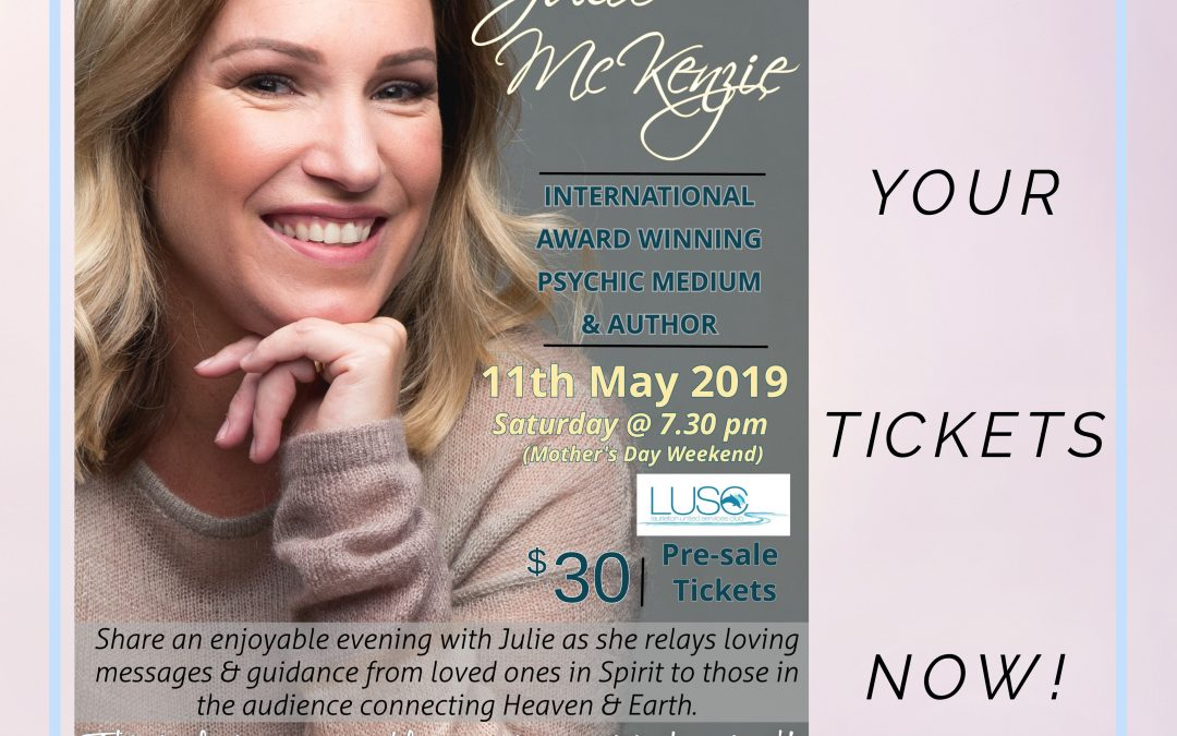 Julie McKenzie LIVE Mediumship Event @ Laurieton United Services Club, NSW