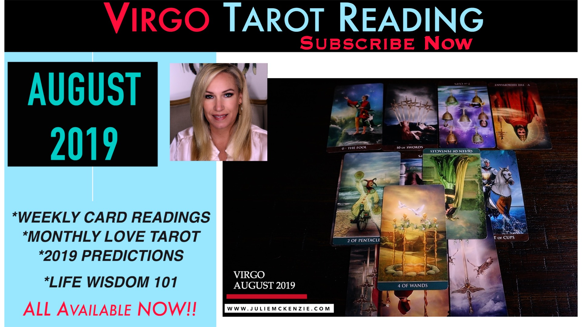 VIRGO August 2019 Tarot - Your twin flame Love with Julie